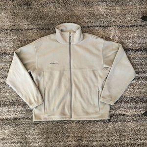 Columbia full zip fleece jacket cream